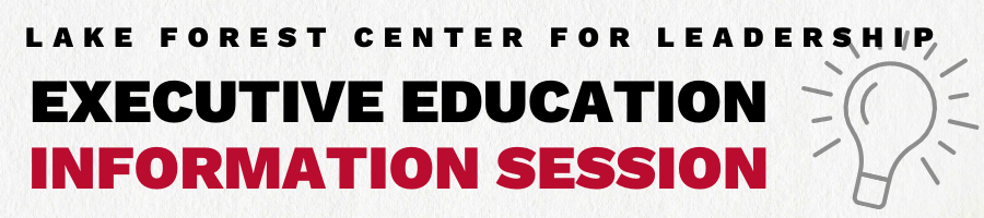 Executive Education Information Session Header